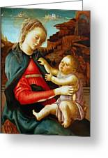 Madonna And Child 1470 Greeting Card