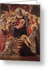 Madonna And Child Enthroned With Saints Fra Filippo Lippi Greeting Card