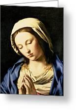 Madonna At Prayer Greeting Card