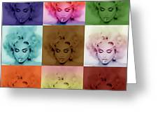 Madonna By Gbs Greeting Card by Anibal Diaz