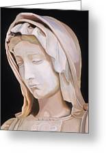Madonna By Michaelangelo Greeting Card