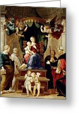 Madonna Del Baldacchino Raffaello Sanzio Da Urbino Raphael Raffaello Santi Greeting Card