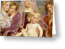 Madonna Of Giverny, 1901 Detail Greeting Card