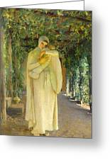 Madonna Of The Arbor Greeting Card