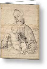 Madonna Of The Pomegranate Greeting Card