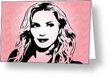 Madonna - Pop Art Greeting Card