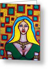 Madonna-putana Greeting Card by Brenda Higginson