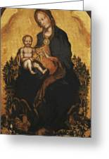 Madonna With Angels 1410 Greeting Card