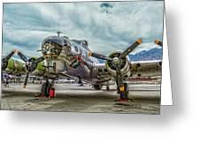 Madras Maiden B-17 Bomber Greeting Card