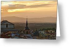 Madrid Mountain View Greeting Card
