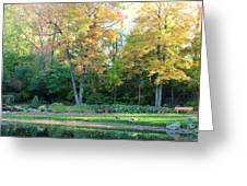 Mae Stecker Park In Shelby Township Michigan Greeting Card