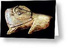 Magdalenian Carved Bison  Greeting Card