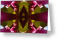 Magent Crystal Flower Greeting Card
