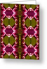Magenta Crystal Pattern Greeting Card