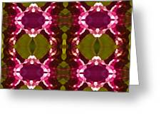 Magenta Crystals Pattern 2 Greeting Card