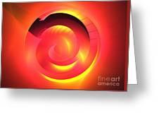 Magenta Curve Greeting Card
