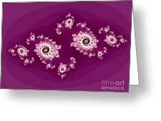 Magenta Galaxies Greeting Card