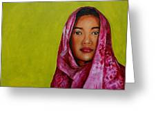 Magenta Girl Greeting Card