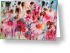 Magenta May Flowers Greeting Card
