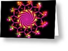 Magenta Mosaica Greeting Card
