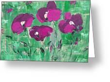 Magenta Poppies Greeting Card