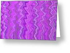 Magenta Waves  Greeting Card