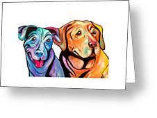 Maggie And Raven Greeting Card
