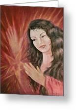 Magic - Morgan Le Fay Greeting Card by Bernadette Wulf