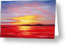 Magic At Sunset Greeting Card