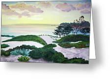 Magic Dawn At A Hidden Beach Greeting Card