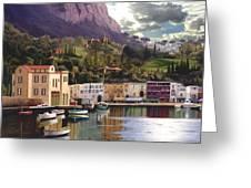 Magic Dawn Resort Greeting Card