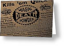 Magic Death Powder Greeting Card