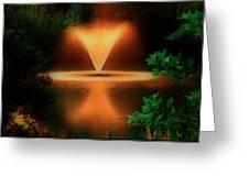 Magic Fountain  Hdr Greeting Card