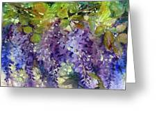 Magic In Purples And Greens Greeting Card