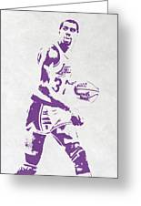 Magic Johnson Los Angeles Lakers Pixel Art Greeting Card