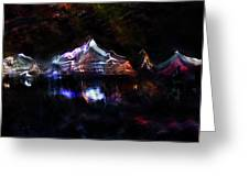 Magic Mountain Lake Greeting Card