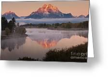 Magic Of Dawn At Oxbow  Bend Greeting Card