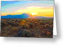 Magic Over Taos Greeting Card