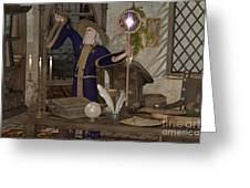 Magic Sorcerer Greeting Card