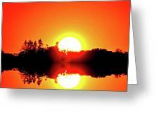 Magic Sunset  Two  Greeting Card
