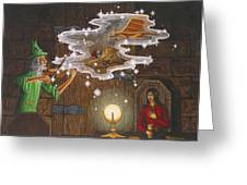 Magic Violin Greeting Card by Roz Eve