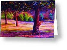 Magical Day In The Park Greeting Card