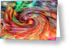 Magical Energy Greeting Card by Linda Sannuti