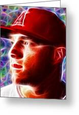 Magical Mike Trout Greeting Card