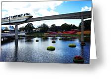Magical Monorail Ride Greeting Card