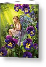 Magical Pansies Greeting Card