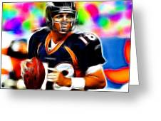 Magical Peyton Manning Borncos Greeting Card