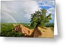 Magical Rainbow Panorama Greeting Card