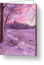 Magical Sunset After Snow Storm 1 Greeting Card