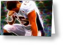Magical Tebowing Greeting Card by Paul Van Scott